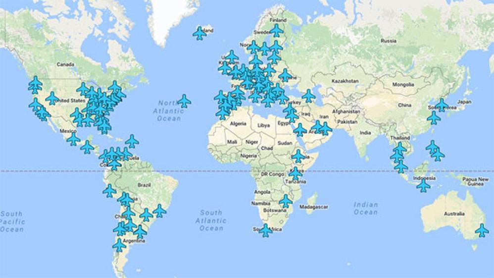 Μάθε τον κωδικό WiFi για το αεροδρόμιο όπου βρίσκεσαι μέσα από αυτόν τον διαδραστικό παγκόσμιο χάρτη!