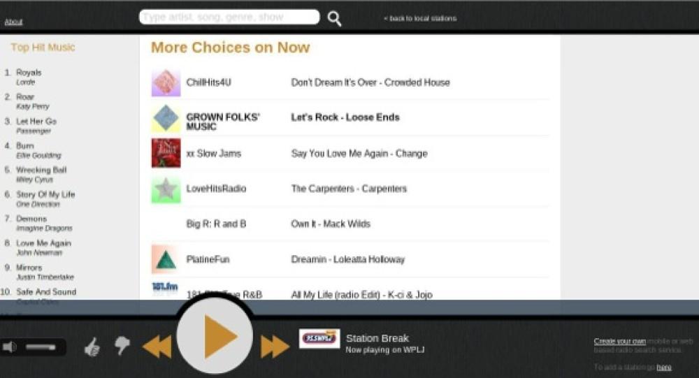 Νέα υπηρεσία αναζήτησης τραγουδιών σε ραδιοφωνικούς σταθμούς στο Internet