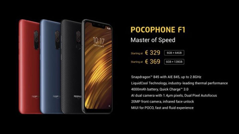 Xiaomi POCO F1: Αυτές είναι επίσημα οι εκδόσεις που θα έρθουν στην Ευρώπη και οι τιμές τους
