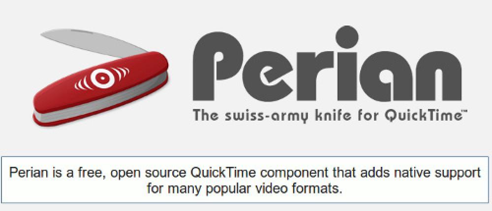 Δείτε σχεδόν όλα τα video format χρησιμοποιώντας το QuickTime, με εγκατάσταση του Perian Component (μόνο για Mac)