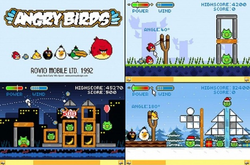 Angry Birds σε ρετρό έκδοση