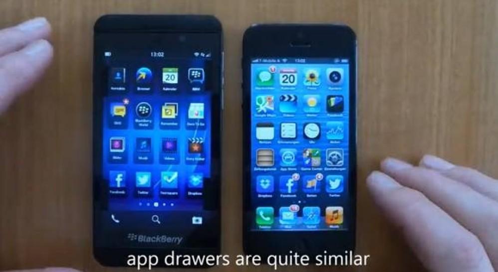 BlackBerry Z10 vs iPhone 5, το πρώτο συγκριτικό video κρύβει εκπλήξεις [Video]