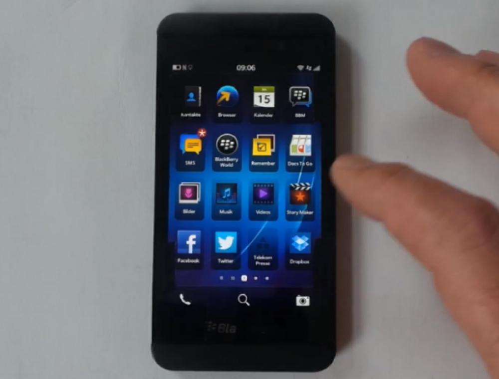 BlackBerry Z10, το πρώτο smartphone της RIM με BlackBerry 10 OS σε hands-on video