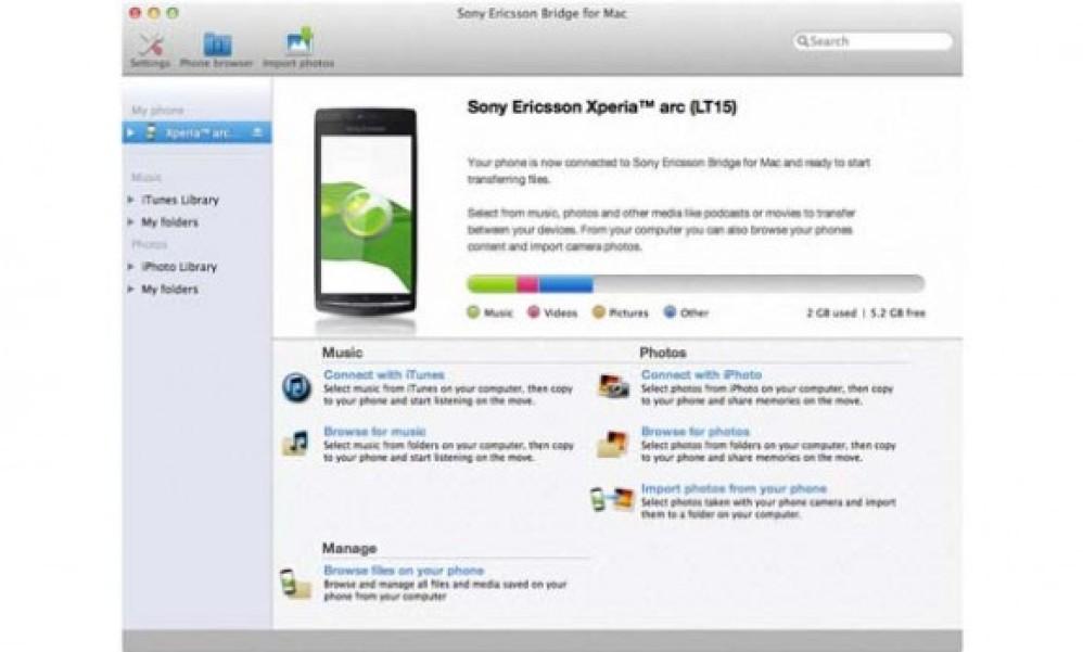 Bridge for Mac 1.2: Συγχρονισμός των Xperia smartphones με υπολογιστές Mac