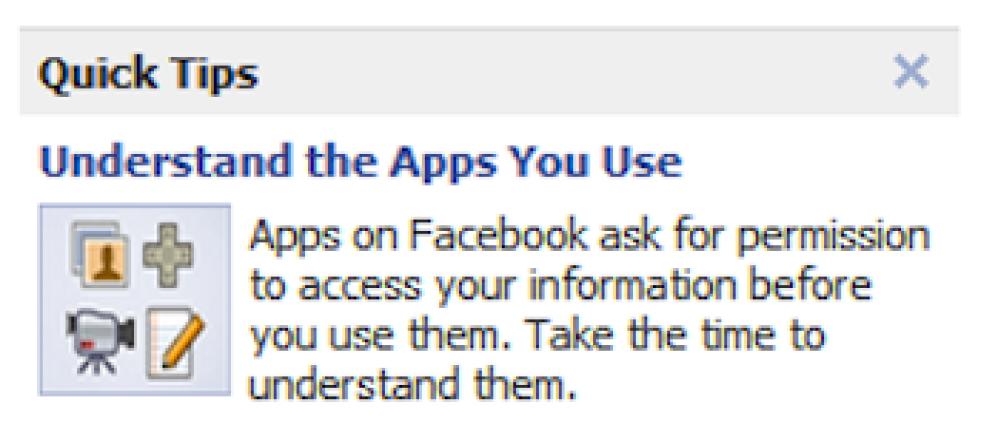 Το Facebook εκπαιδεύει τους χρήστες του για την ασφάλεια των εφαρμογών!