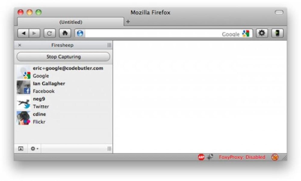 Firesheep Extension για Firefox: Επιτρέπει την εύκολη υποκλοπή λογαριασμών Facebook, Twitter!