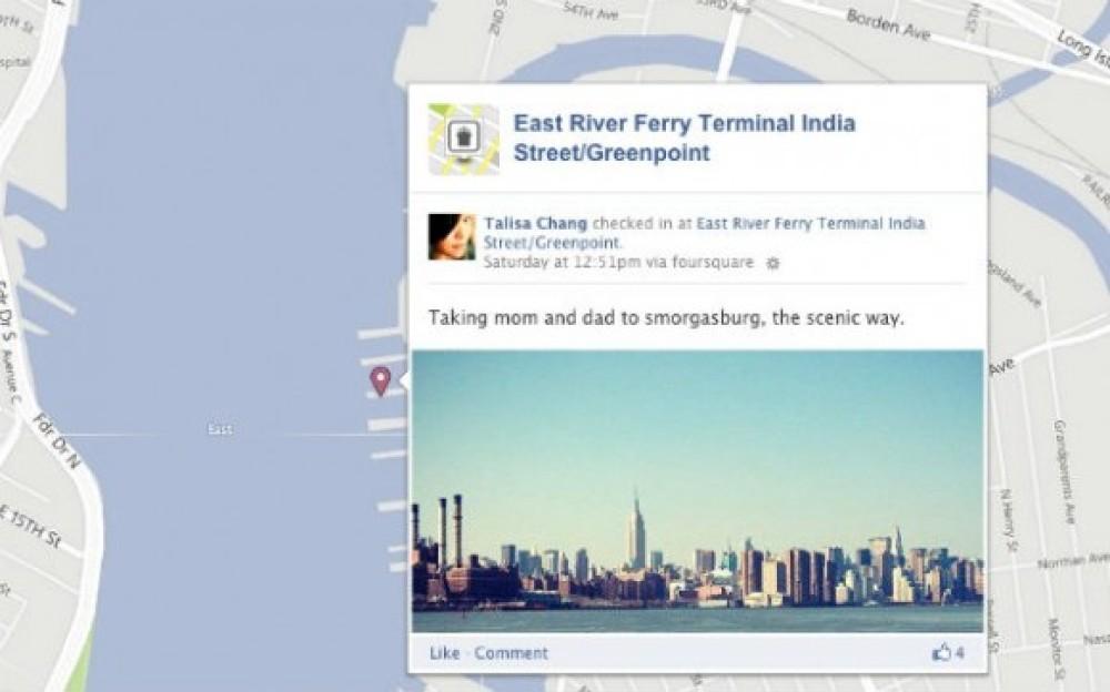 Εμφάνιση των Check-ins του Foursquare στο χάρτη του Facebook Timeline σου