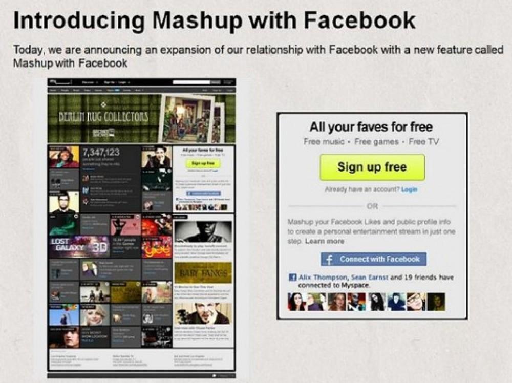 Mashup with Facebook: Η συνεργασία MySpace και Facebook είναι πλεόν γεγονός! [Update]