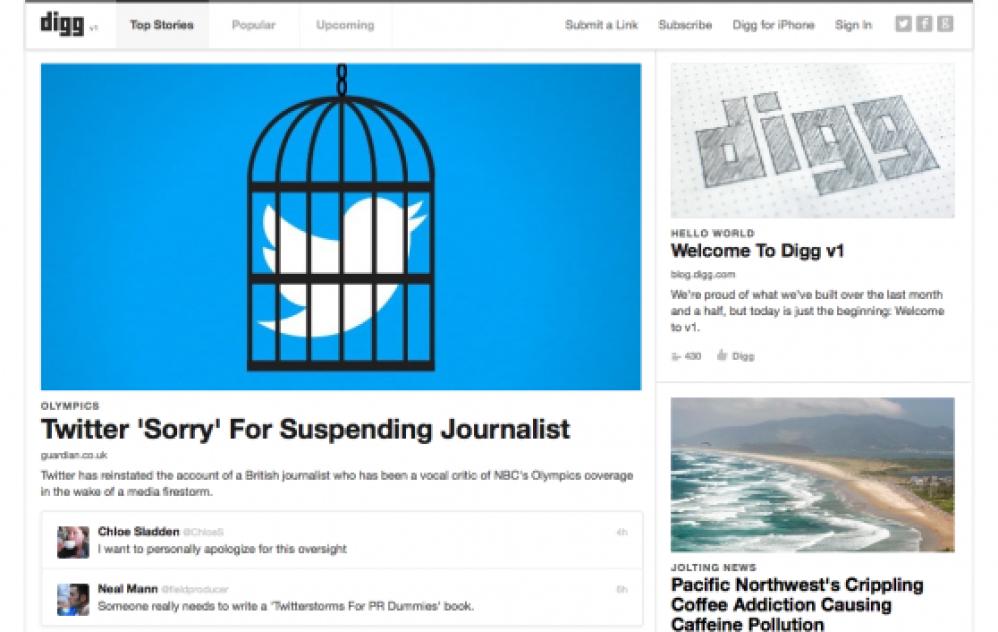 To Digg επανακυκλοφόρησε μαζί με εφαρμογή για iOS
