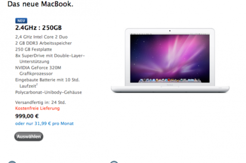 Apple Refreshes 13'' MacBook, Faster CPU & Better Graphics