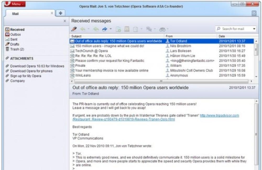 Opera browser: 150.000.000 χρήστες παγκοσμίως!