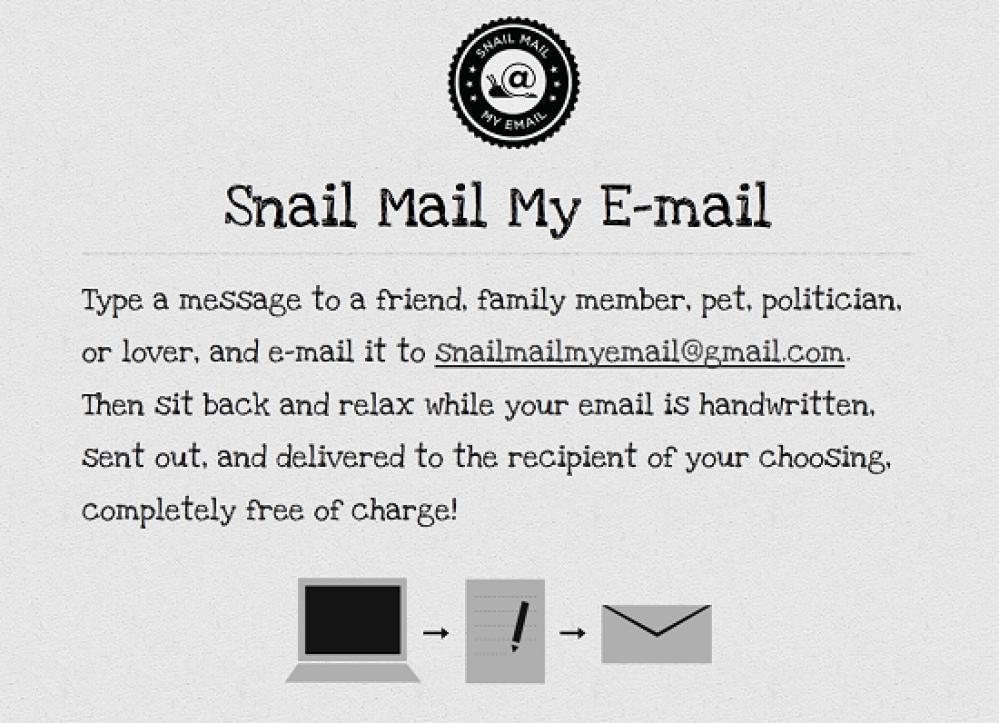 Snail Mail My Email, μετατρέψτε τα Email σας σε χειρόγραφες επιστολές