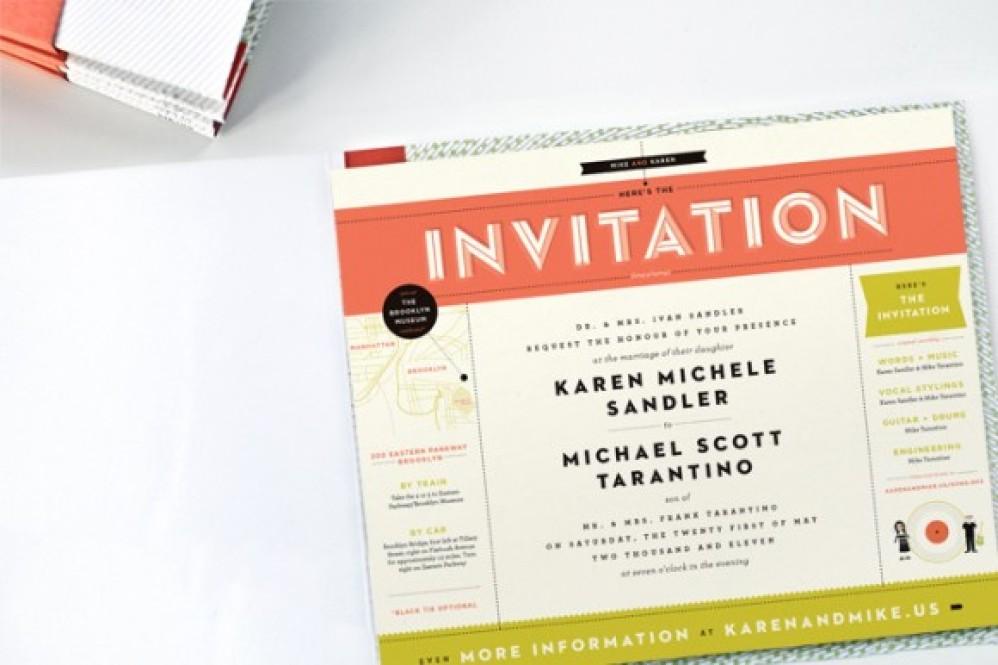 Γαμήλια πρόσκληση που παίζει και δίσκους!