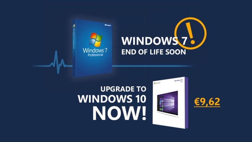 Το Windows 7 φτάνει στο τέλος του, ώρα για αναβάθμιση στο Windows 10 με μόλις €9.62!
