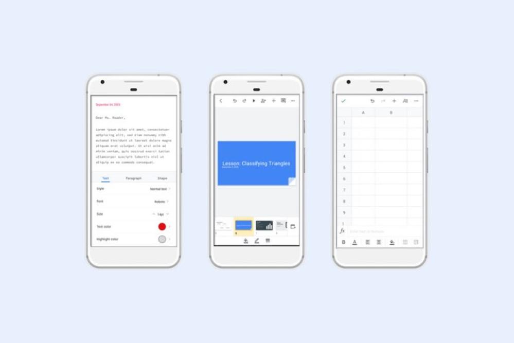 Νέος σχεδιασμός σε Google Docs, Slides και Sheets στις συσκευές Android