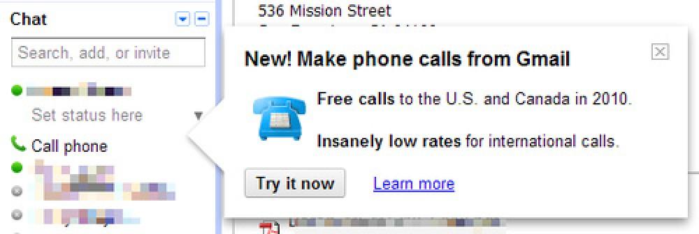 Τηλεφωνικές κλήσεις μέσω Gmail;