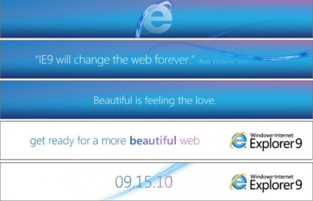 Η Microsoft ξεκίνησε να διαφημίζει τον browser Internet Explorer 9