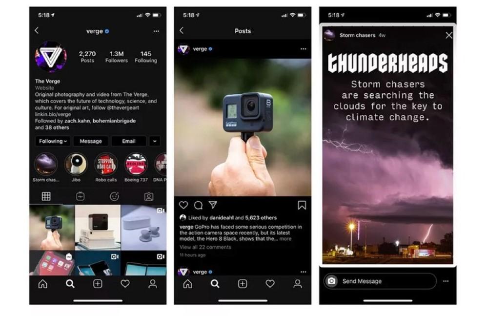 Instagram: Υποστηρίζει πλέον το dark mode του iOS 13