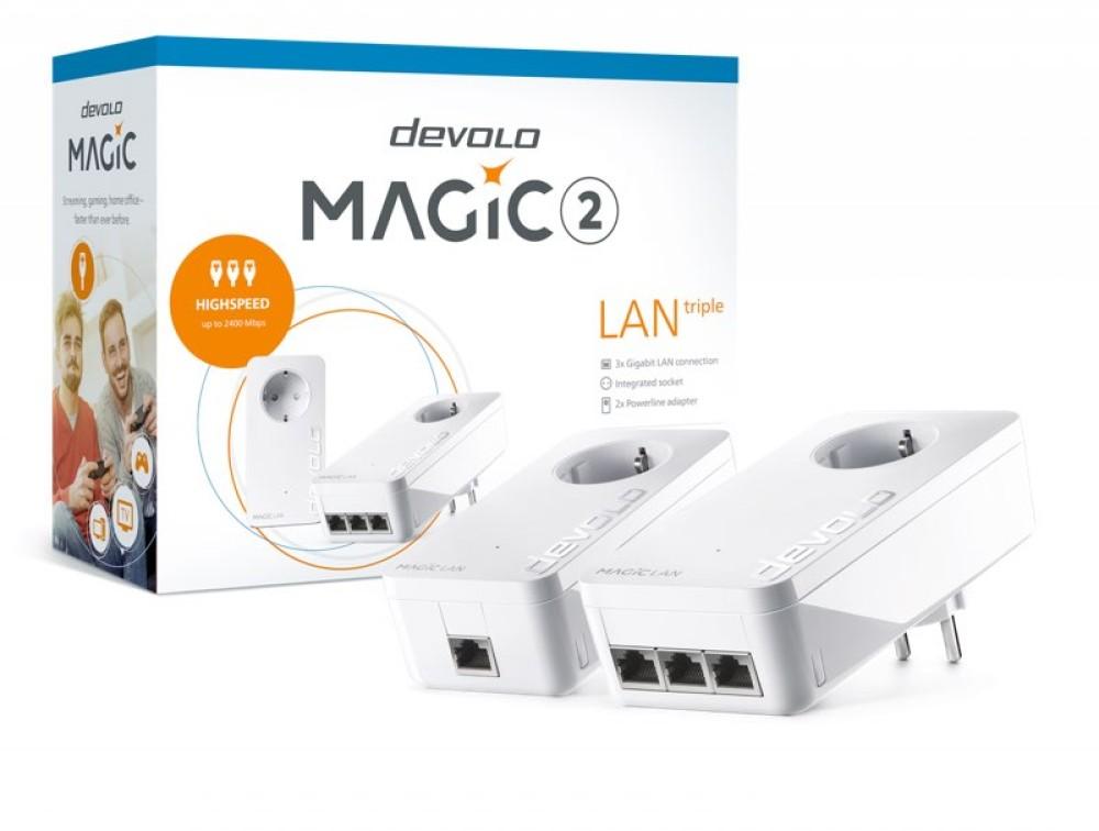 devolo Magic 2 LAN triple: Ο ταχύτερος προσαρμογέας με τρεις θύρες LAN