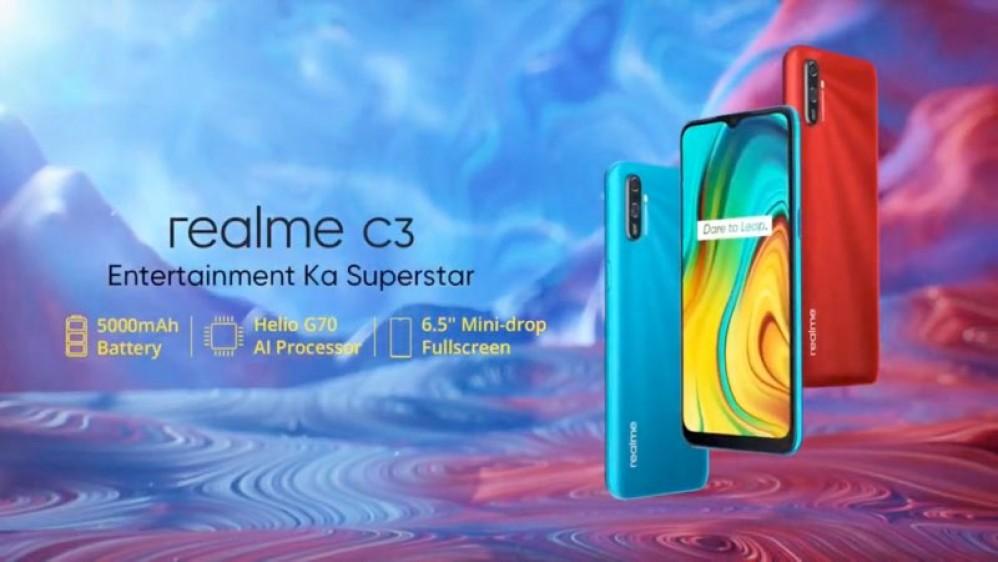 Realme C3: Επίσημα με οθόνη 6.5'' HD+, Android 10 και μπαταρία 5000mAh από €90