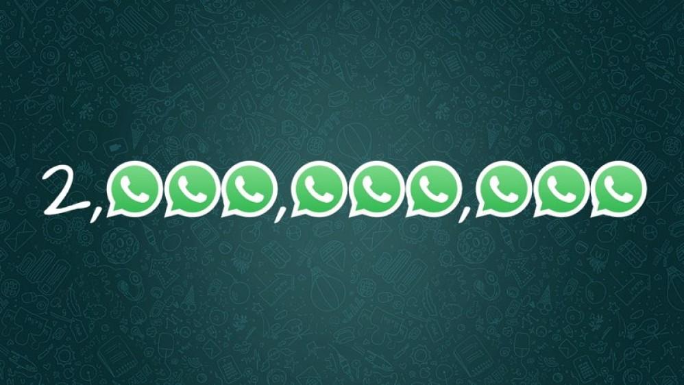 WhatsApp: Ξεπέρασε τα 2 δισ. ενεργούς χρήστες