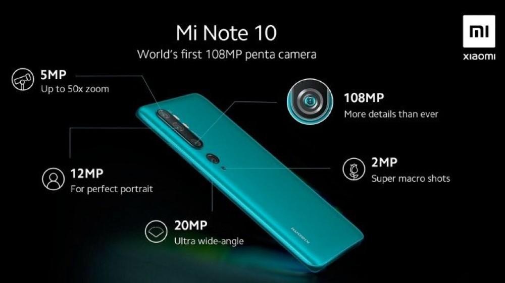 Xiaomi Mi Note 10: Αποκαλύψεις για την πενταπλή κάμερα και μπαταρία 5260mAh