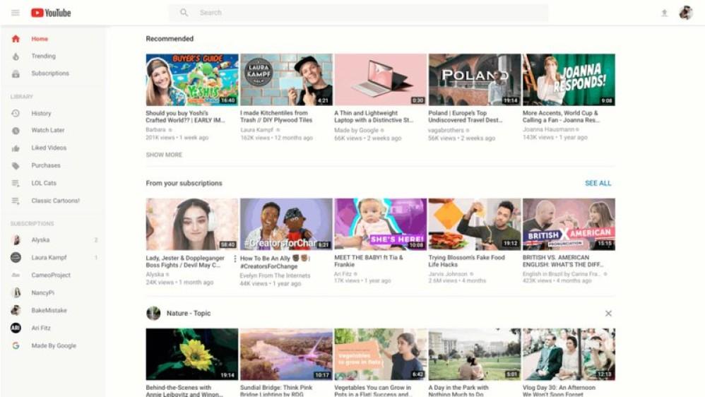 Το YouTube αλλάζει εμφάνιση στα desktops
