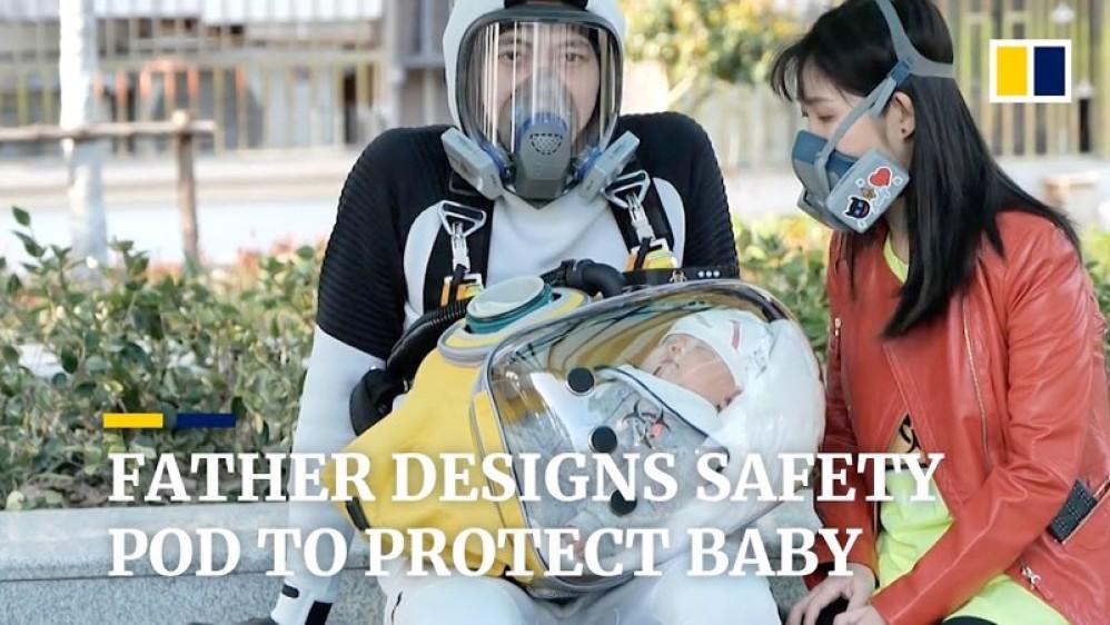 Πατέρας προστατεύει το μωρό του από τον κορωνοϊό με κάψουλα από το Death Stranding!