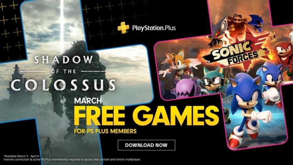 Shadow of the Colossus και Sonic Forces τα δωρεάν παιχνίδια για το Μάρτιο στο PS Plus