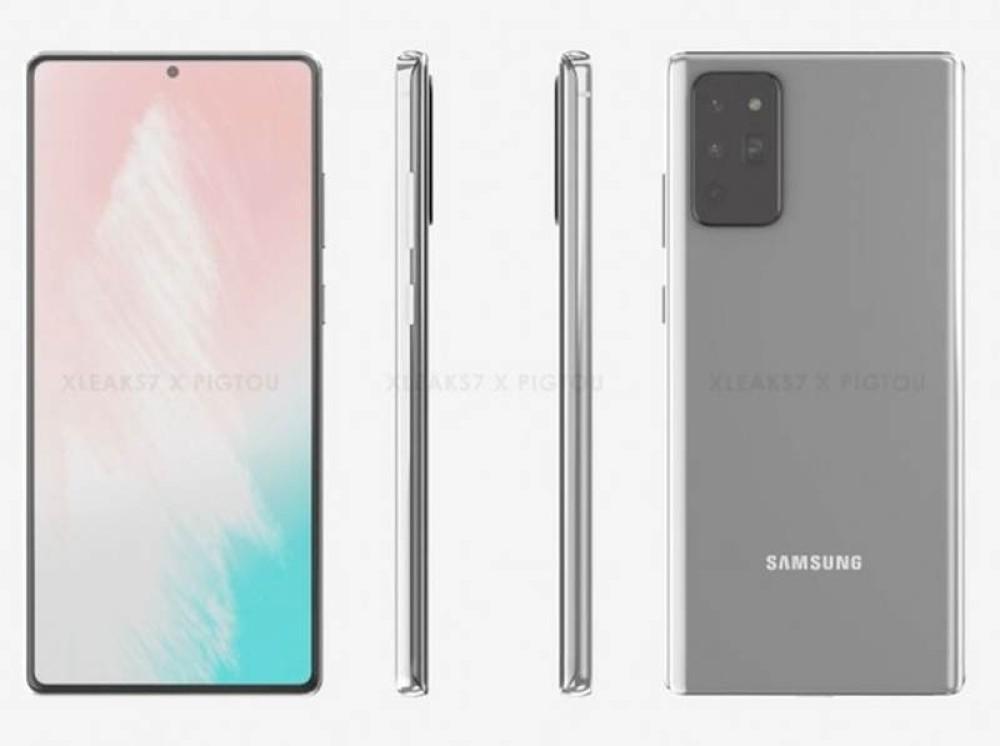 Samsung Galaxy Note 20: Τα πρώτα renders δείχνουν flat οθόνη