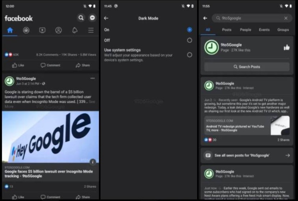 Facebook: Δοκιμές για dark mode και COVID tracker στην εφαρμογή Android