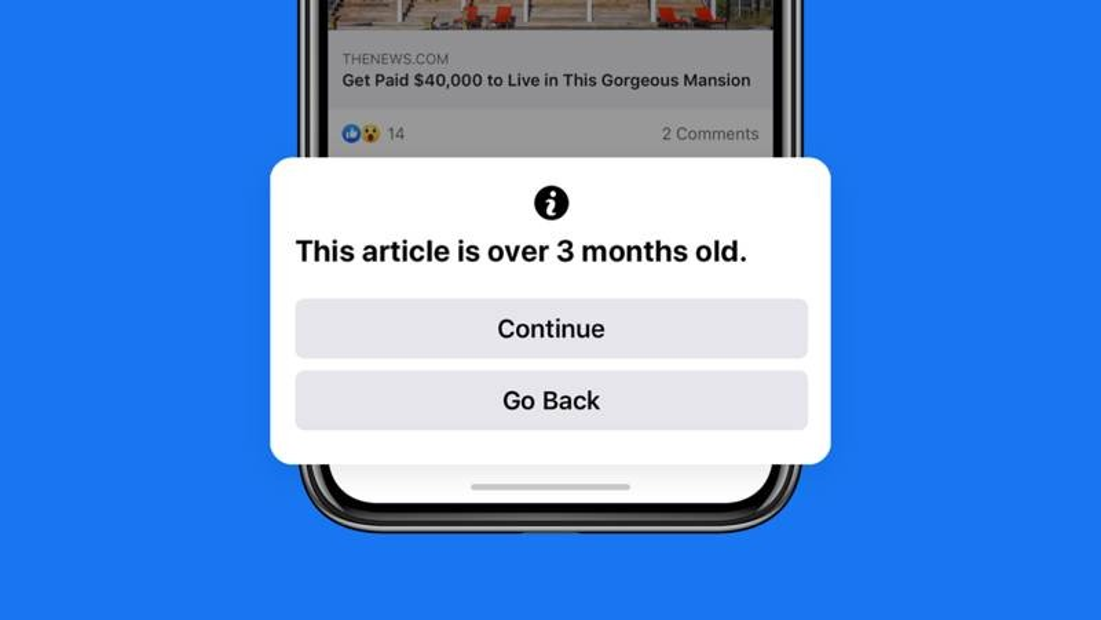 Facebook: Θα σε προειδοποιεί όταν επιχειρείς να διαμοιραστείς παλιά άρθρα