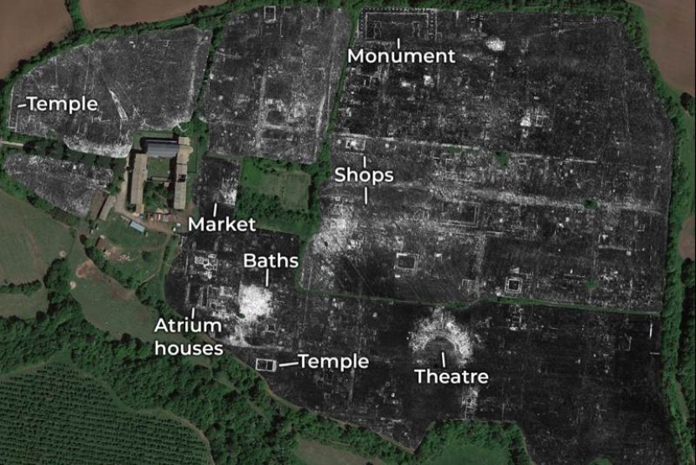 Πλήρης και λεπτομερής χαρτογράφηση θαμμένης Ρωμαϊκής πόλης χωρίς ανασκαφή