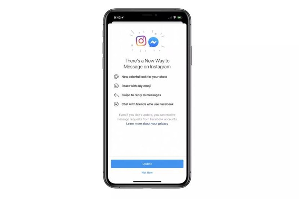 Ξεκίνησε η ενοποίηση Facebook Messenger και Instagram