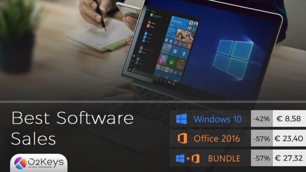 Windows 10 με μόλις €8.58 και Office 2016 με €23.40