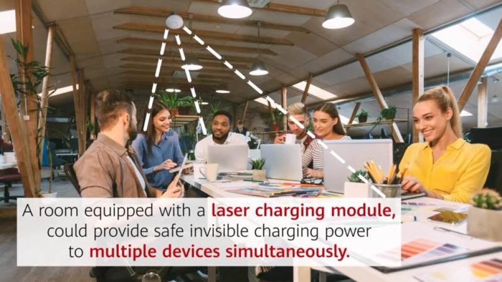 Η Huawei οραματίζεται ασύρματη φόρτιση με lasers σε κοινόχρηστους χώρους [Video]