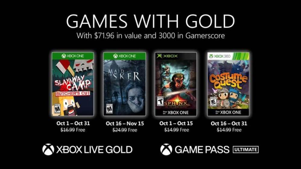 Αυτά είναι τα δωρεάν games που έρχονται σε Xbox Live Gold και Xbox Game Pass τον Οκτώβριο