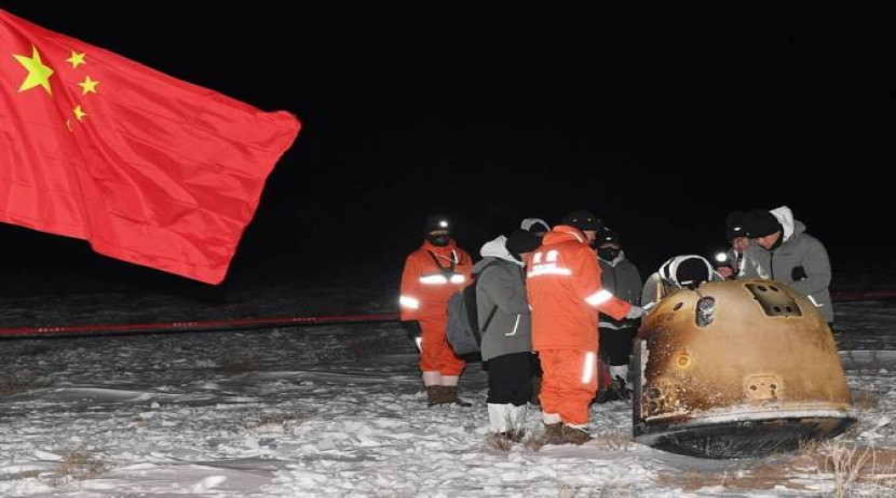 Chang'e-5: Επέστρεψε με επιτυχία δείγματα από τη Σελήνη μετά από 44 χρόνια