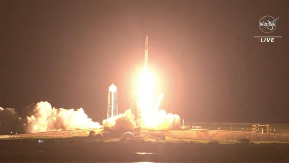 NASA και SpaceX έστειλαν για δεύτερη φορά επανδρωμένη αποστολή στον ISS