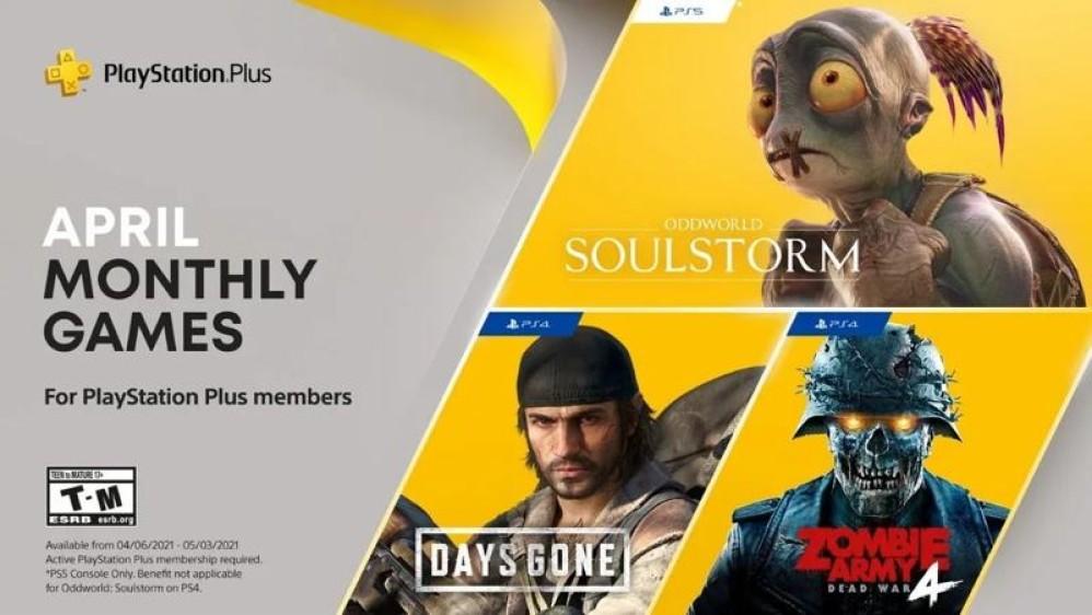 PS Plus: Απρίλιος με Days Gone και Oddworld Soulstorm!