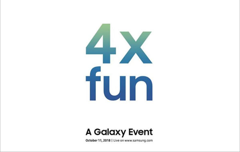 """Η Samsung υπόσχεται """"4x fun"""" στις 11 Οκτωβρίου. Έρχεται το αναδιπλώμενο smartphone ή κάτι πιο συνηθισμένο;"""