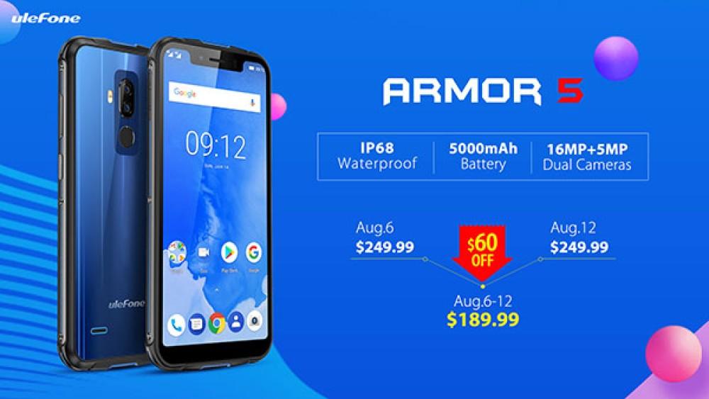 Ulefone Armor 5: Διαθέσιμο το θωρακισμένο smartphone με notch στα €165! [Video]