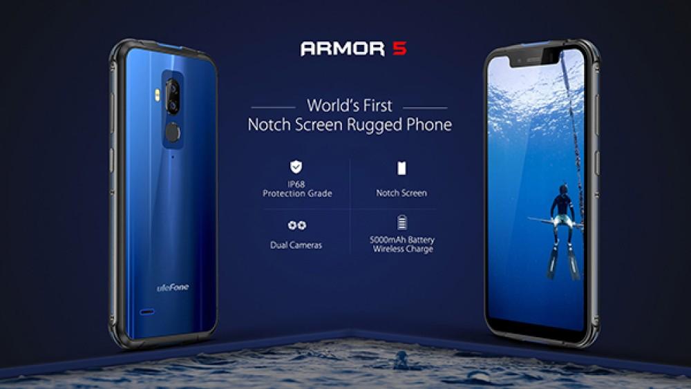 Ulefone Armor 5: Επίσημα το πρώτο θωρακισμένο smartphone με οθόνη 5.85'' FHD+ και notch