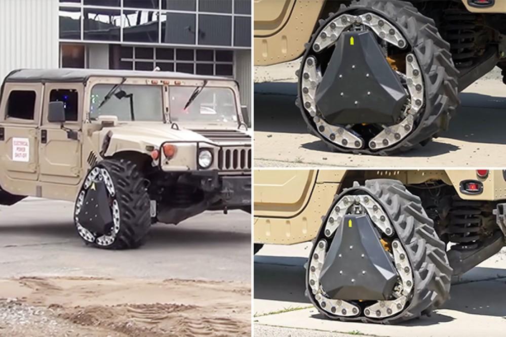Αυτό το στρατιωτικό τζιπ διαθέτει ρόδες που αλλάζουν σχήμα ανάλογα με το υπέδαφος! [Video]