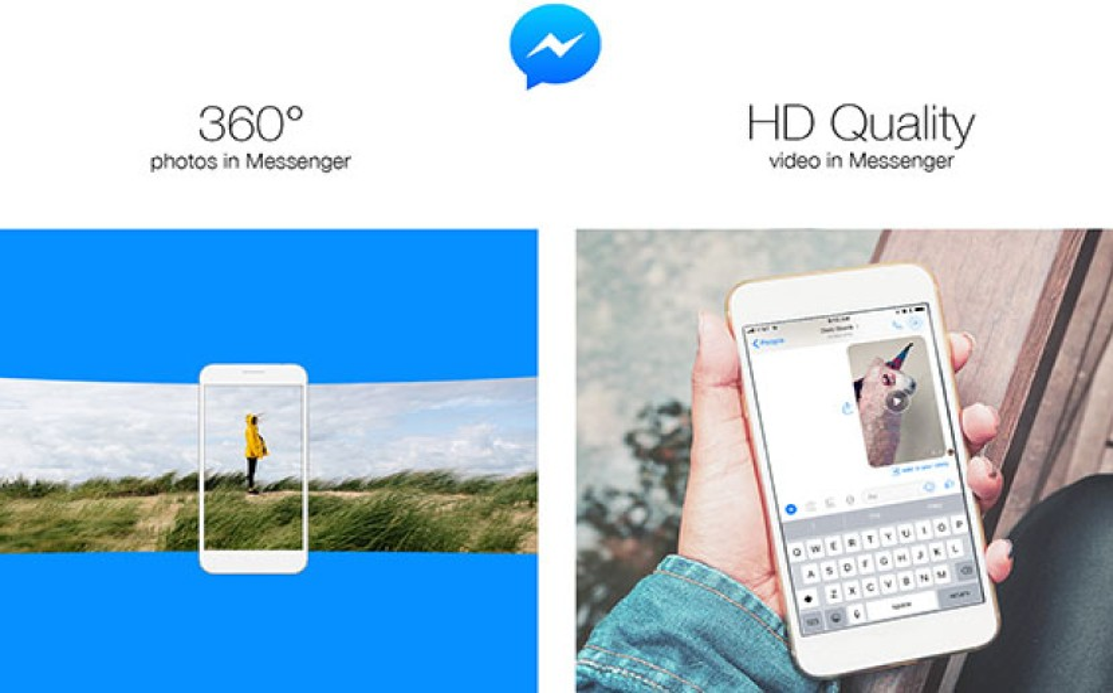 Facebook Messenger: Δυνατότητα αποστολής HD video και πανοραμικών φωτογραφιών 360°