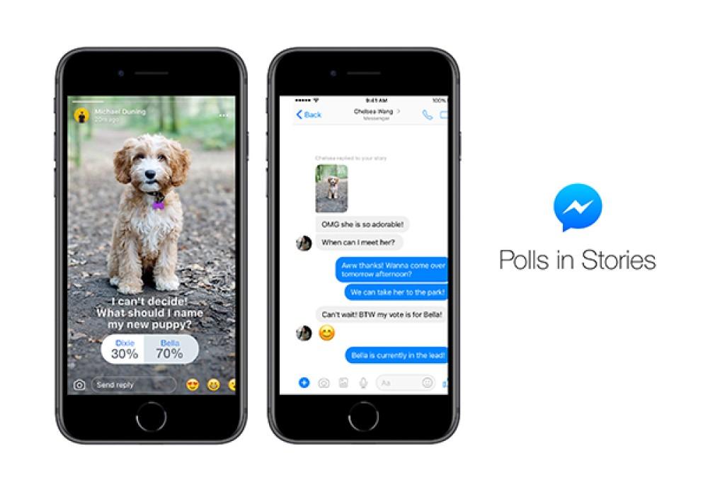 Διαθέσιμα τα Polls και στα Stories του Facebook Messenger