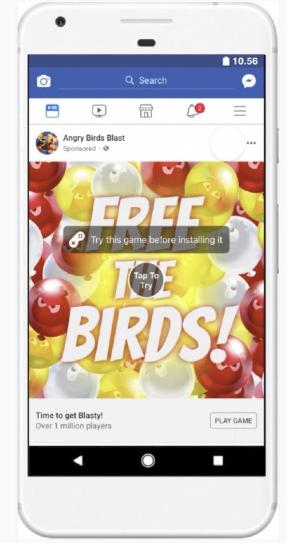 Facebook Playable Ads: Εμφανίστηκαν οι διαδραστικές διαφημίσεις και στο κοινωνικό δίκτυο