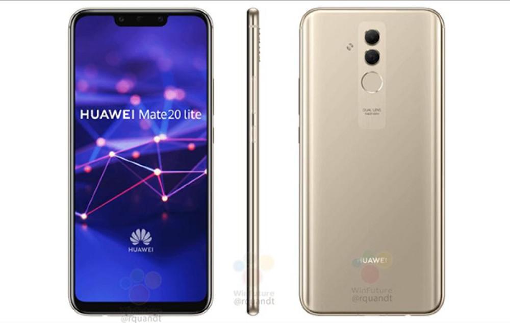 Huawei Mate 20 Lite: Διέρρευσαν επίσημα renders, έρχεται με 4 κάμερες και τιμή κοντά στα €400
