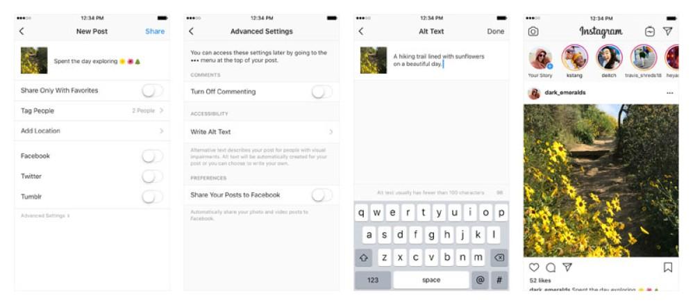 Instagram: Εισάγει περιγραφή στις φωτογραφίες για χρήστες με προβλήματα όρασης