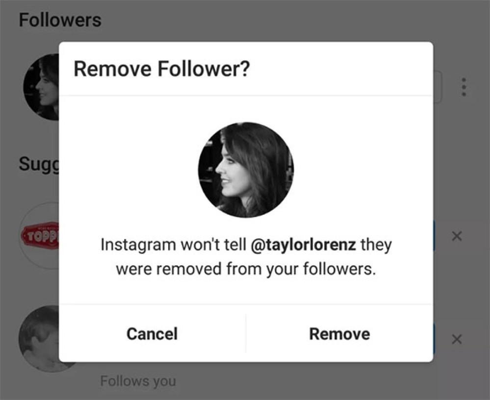 Instagram: Επιτρέπει και τη διαγραφή ακολούθων από δημόσιους λογαριασμούς